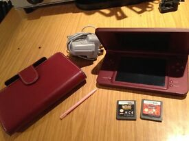 NINTENDO DSiXL WINE RED GAME CONSOLE