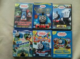 6 Thomas the tank engine DVDs