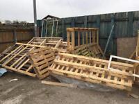 Free pallet wood firewood fencing