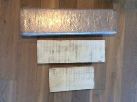 Brand new white oak solid shelves