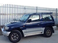 MITSUBISHI SHOGUN SWB 2.8 GLS DIESEL 3 DOORS MANUAL 4X4 BLUE