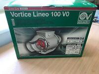 Vortice Lineo 100VO inline extractor unit (x4)