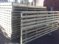 Timber Fencing ranch style panel/pallets ideal for garden,,paddock, allotment fencing..