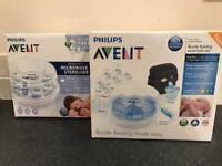Philips AVENT Microwave Steam Sterilizer & Philips AVENT Bottle Feeding Essentials