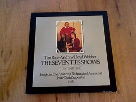 LP 3 discs Vinyl ANDREW LLOYD WEBBER 'The Seventies Shows' Limited edition. ''MINT'' Condition