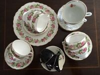 Vintage selection of tea cups