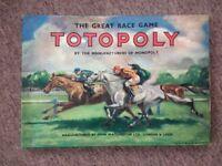 Totopoly Board Game (c)1949 by John Waddington Ltd