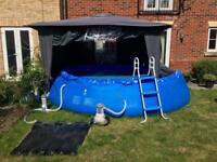 Swimming Pool 13 x 13ft Steps Water Pump Solar Water Heater