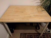 Shabby Chic Duck Egg and Wood Dining Table/Desk