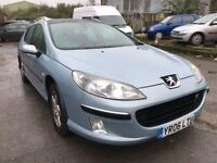 2006 Peugeot 407 SW diesel estate, starts and drives well, does export, trade sale, hence price, car