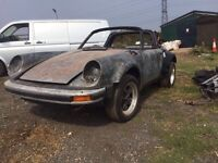 PORSCHE 911 SUPERSPORT UNFINISHED PROJECT CLASSIC CAR