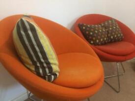 2 Allermuir fabric chairs.