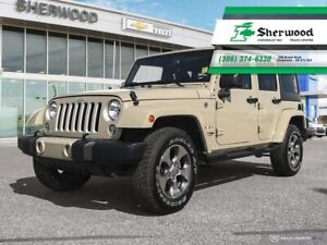 2018 Jeep Wrangler Unlimited Sahara Leather/NAV Only 17,000kms!!