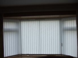 44 Vertical Blinds Slats with Hangers, Weights and Chains. £15