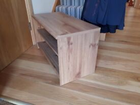 TV unit/shelving unit-oak colour.