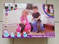 The Original Happy Hopperz Inflatable Bouncer with Pump - Very Good Condition
