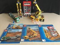 Large Lego City 7633 - Construction site & Instructions. In Excellent condition