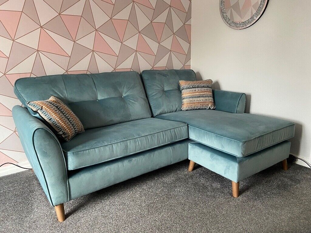 Corner sofa with cheise longe and swivel chair | in Fulwood, Lancashire | Gumtree