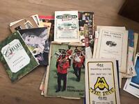 A collection of old programmes