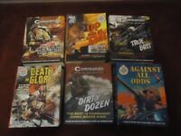 commando books , 6 books each with 12 stories