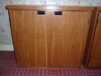 Wooden storage cupboard