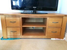 Solid oak NEXT TV unit - Perfect condition
