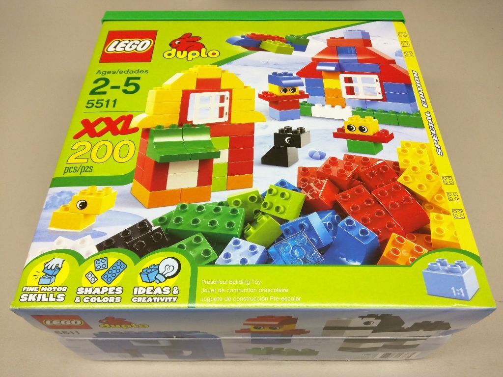 xxl lego duplo huge box 200 pieces new and sealed 5511. Black Bedroom Furniture Sets. Home Design Ideas