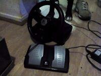 PC formula vibration feedback wheel plus foot pedal
