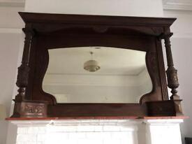 Vintage sideboard mirror