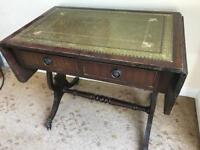 Vintage antique side table- extendable