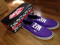*NEW *Vans purple shoes-size UK 6 Open to offers