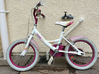 Girls Bike 28cm Frame with Stabilisers