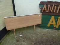 Light Wood Modern Double headboard Delivery available £10