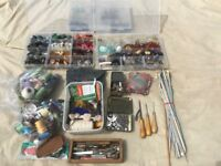 Sewing & Knitting Accessories with assorted threads & Button Collection