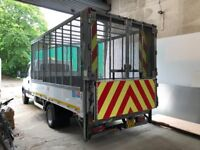 Flatbed Truck body with cage & Tailift
