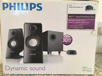 Philips Bass reflex speaker system