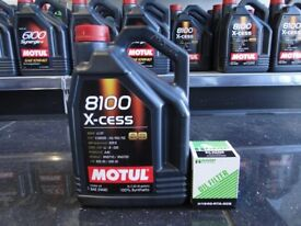 Motul 8100 5w40 Excess with Hamp Filter for all Honda's Civic Crx Integra Nsx Type R Vtec b16 K20