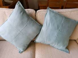Next Faux Suede Cushions x 2. 20 inches x 20 inches. Nice clean condition.
