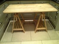 IKEA Table top with trestles