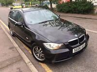 BMW 320D ES ESTATE BLACK 2006 2.0 DIESEL 2 KEYS MOT HISTORY 2 P/OWNR LAST OWNR FROM 2010 CLEAN CAT D