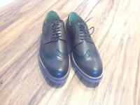 Smart Casual brown leather brogues size 9