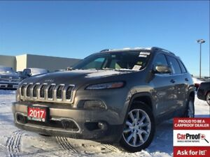 2017 Jeep Cherokee LIMITED**LEATHER**NAVIGATION**BACK UP CAMERA*
