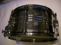 "Pearl 4914 Jupiter alloy snare drum 14 x 6 1/2"" - Japan - 1970s - Ludwig Supersensitive homage"