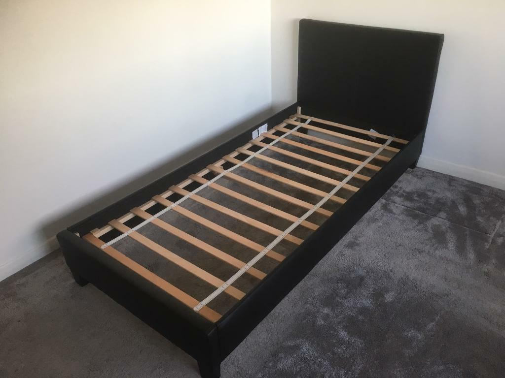 Faux Leather Single Bed Frame Free Delivery In Maidstone Kent