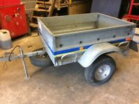 Linder 4x3 trailer with cover