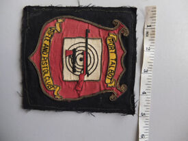 Vintage cloth badges for blazer. P Talbot Rifle Club and S Wales Games Fair