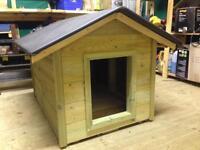 Wooden, medium dog kennel, house apex