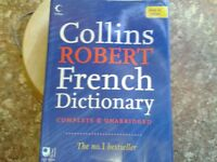 French dictionary - Collins Robert complete & unabridged French dictionary in colour.