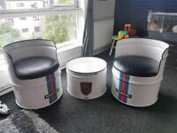 Martini Porsche table and chairs