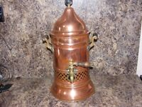 vintage brass water heater for sale